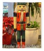 German Nutcracker - Frohe Weihnachten Fleece Blanket