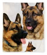 German Shepherd Collage Fleece Blanket