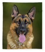 German Shepherd Portrait II Fleece Blanket