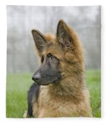German Shepherd Puppy Fleece Blanket