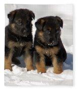 German Shepherd Pups Fleece Blanket