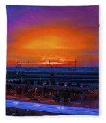 German Sunrise Fleece Blanket
