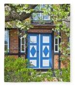 German Timber-framed Country House Fleece Blanket