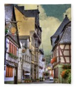 German Village Fleece Blanket