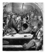 Germany: Beer Cellar, 1875 Fleece Blanket