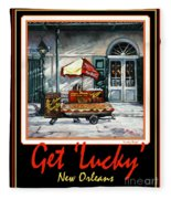 Get ' Lucky ' -  New Orleans Fleece Blanket