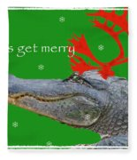 Get Merry Fleece Blanket