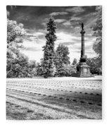 Gettysburg Soldier's Cemetery Fleece Blanket