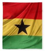 Ghana Flag Fleece Blanket