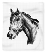 Ghazibella Thoroughbred Racehorse Filly Fleece Blanket