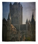 Ghent Skyline Fleece Blanket
