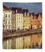 Ghent Waterfront Fleece Blanket