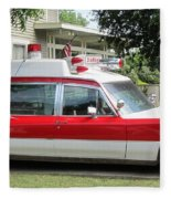 Ghost Buster Style Ambulance Fleece Blanket