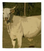 Ghost Cow 2 Fleece Blanket