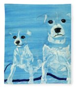 Ghost Dogs Fleece Blanket