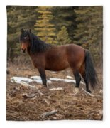 Ghost Forest Stallion Fleece Blanket