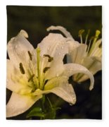 Ghost Lilies Fleece Blanket