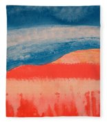 Ghost Ranch Original Painting Fleece Blanket