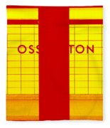 Ghost Station In Red And Yellow Fleece Blanket