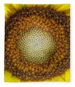 Ghost Sunflower Fleece Blanket