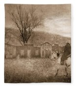 Ghost Town #2 Fleece Blanket