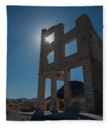 Ghost Town - Rhyolite Fleece Blanket