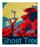 Ghost Tree Poster Fleece Blanket