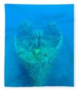 Ghostly Ship Wreck Fleece Blanket