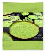 Giant Amazon Lily Pads Fleece Blanket