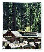 Giant Forest Museum Portrait Fleece Blanket