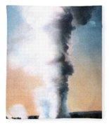 Giant Geyser Yellowstone Np  Fleece Blanket
