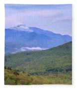 Giant Mountain From Owls Head Fleece Blanket