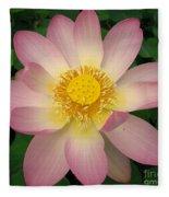 Giant Pink Lotus Fleece Blanket