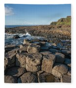 Giant S Causeway, Antrim Coast Fleece Blanket