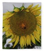 Giant Sunflower Fleece Blanket