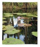 Giant Water Lilies Fleece Blanket