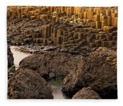 Giants Causeway, Antrim Coast, Northern Fleece Blanket
