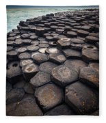 Giant's Causeway Pillars Fleece Blanket