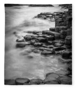 Giant's Causeway Waves  Fleece Blanket
