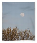 Gibbous Nature Fleece Blanket