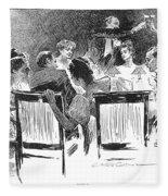 Gibson: Dinner Party, 1894 Fleece Blanket