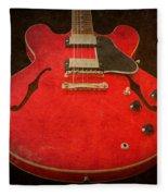 Gibson Es-335 Electric Guitar Body Fleece Blanket