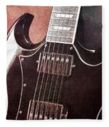 Gibson Sg Standard Red Grunge Fleece Blanket