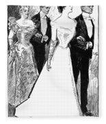 Gibson: The Debutante, 1899 Fleece Blanket