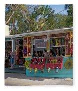 Gift Shop In Key West Fleece Blanket