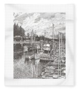 Gig Harbor Entrance Fleece Blanket