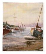 Gillingham Pier On The Medway Fleece Blanket