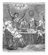 Gillray: Tavern, 1801 Fleece Blanket