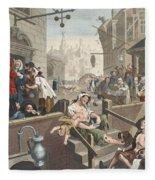 Gin Lane, Illustration From Hogarth Fleece Blanket