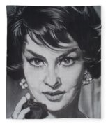 Gina Lollobrigida Fleece Blanket